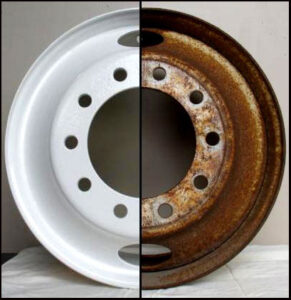 Alloy Wheel Sand Blasting